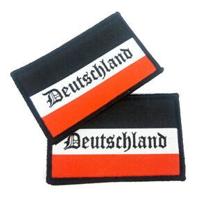 2 x Aufnäher Deutsches Kaiserreich Schwarz Weiß Rot Fahne Flagge Patch Adler BRD