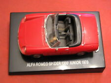 Alfa Romeo Spider 1300 Junior 1970 rossa red modellino auto car toy nuova new