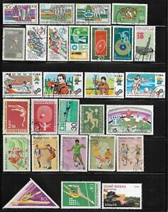 Summer Sports Packet Lot of 28 Topical Stamps Soccer Baseball Collection used