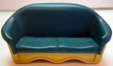 Fisher Price Loving Family Dollhouse SOFA COUCH Green/Tan Living Accessory 1993