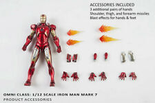Comicave Studio 1/12 Iron Man MK 7 Metal Flash Action Figure New 001