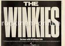 Winkies The Brian Eno Wishbone Ash Apollo, Glasgow MM4 LP/Tour Advert 1974