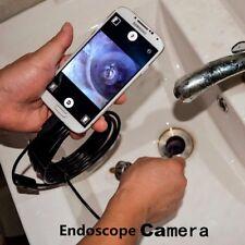 Tube Pipe Camera Drain Inspection LED Light Waterproof Endoscope Snake USB Cam