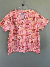 Denver Hayes Scrub Top Size XL Pink