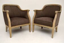 Oak Armchairs Louis XV/Neoclassical Antique Chairs
