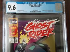 GHOST RIDER VOL 2 #1 CGC 9.6 1990 WHITE PAGES 1ST APP DAN KETCH AND DEATHWATCH