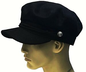 Fiddler Breton Cap Hat 70% Wool Greek Fisherman Sailor Barge Mariner Mens Ladies