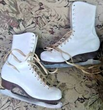 Vintage Sonja Henie Leather Ice Skates Size 7 Vgc with Box Figure Skating