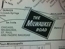 MILWAUKEE RAILROAD - 1970 - 16 X 20 SYSTEM MAP - COMPLETE DETAILED