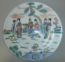 Antico Piatto cinese Qianlong dipinto a mano Marchio in rosso