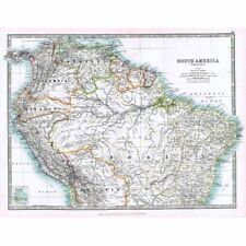 Antique Map 1914 - South America (North) by W & AK Johnston