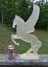 Vtg Large Pegasus Flying Winged Horse Frosted Austin Sculpture Statue Figurine
