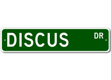 DISCUS  Street Sign ~ Fishing ~ Great Fish Sign for you