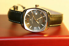 Jacques du Manoir Swiss Made Men's Automatic Dress Watch Black Dial ETA 2824 NEW