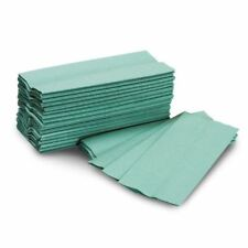 Paper Hand Towels Industrial Commercial 1Ply Green C Fold Washroom QTY 2500
