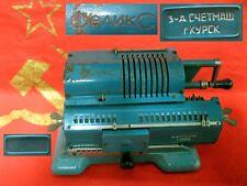 SOVIET RUSSIAN ADDING MACHINE ARITHMOMETER FELIX mechanical calculator USSR 70s
