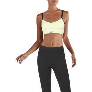 Reebok Womens Hero Strappy Medium Impact Fitness Sports Bra Athletic BHFO 2294