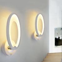 Acrylic Oval LED Bedroom Bedside Wall Lamp Simple Modern Living Room Light Decor