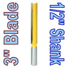 "1 pc 1/2 SH Extra long 3"" Blade 1/2"" Cutting Dia. Straight Router Bit sct-888"
