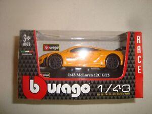 Miniatura B Burago Mc Laren 12C Gt 3 Serie Racer 1/43 Nueva en Caja