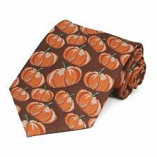 Pumpkin Themed Tie Thanksgiving or Halloween Necktie