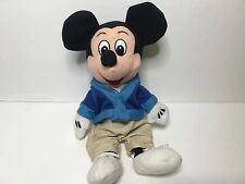 Disney Store MICKEY MOUSE CASTMEMBER Excl. Beanie Baby Bean Bag 1st Edition RARE