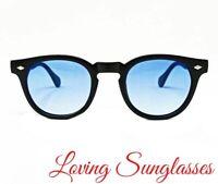 Pif wear Depp 7o Occhiali da sole nero opaco lenti nero gafas unisex 001-7o