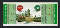 1970 NCAA WASINGTON STATE COUGARS @ MICHIGAN ST SPARTANS FULL FOOTBALL TICKET