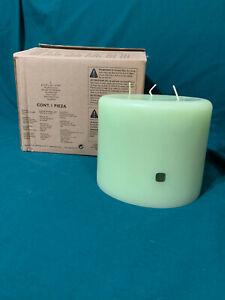 "BNIB Partylite 3-Wick Pillar Candle 6"" X 5"" Lemongrass"