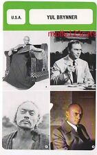 Russian American actor and film star Yul Brynner French Trade Card