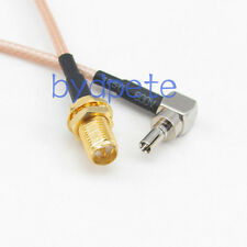 6inch RG316 CRC9 male right angel to RP-SMA female RF Pigtail Jumper Cable 15cm
