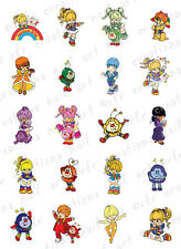 20 NAIL DECALS *VINTAGE RAINBOW BRITE ASSORTMENT * WATER SLIDE NAIL ART DECALS