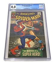 Amazing Spider-Man 42 CGC 8.0 OW Pages 1st Mary Jane Rhino Marvel 1966