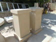 Heavy solid stone plinth with swags and fruit design stunning