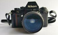 Nikon F3 SLR Film Camera Nikkor-O.C Auto 35mm F/2 Non-Ai Wide Angle Lens - Japan