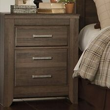 Ashley Furniture Signature Design Juararo Nightstand in Dark Brown with 2-Drawer