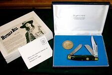 S. W. Cut BB2 Knife Buffalo Bill Cody Black Premium Stockman Set W/Coin USA Made
