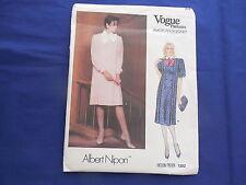 Vintage Vogue Dress Pattern Albert Nipon #1302 Size 8 1990's Uncut