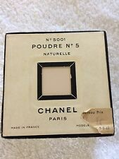 CHANEL POUDRE No 5 Naturel, No 5001, Perfumed Powder NIB Sealed Pre 1951 Formula
