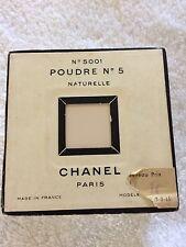 CHANEL POUDRE No 5 Naturel, No 5001, Perfumed Powder NIB Sealed Pre 1951 Formula
