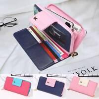 Women Girls Clutch Leather PU Long Purse Wallet Phone Card Holder Lady Handbag