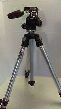 MANFROTTO Aluminum Tripod with 804RC2 3-Way Pan/Tilt Head Barely Used