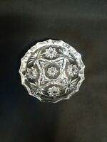 """Vintage Clear Glass Star of David Ashtray 5"""" Anchor Hocking Pressed Large"""