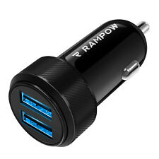 RAMPOW 2 Port USB Ladeadapter Netzteil 2.4A Ladegerät für Handy KFZ Auto Car PKW