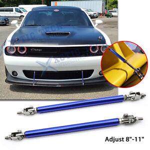 """Adjust 8""""-11"""" Blue Bumper Stabilizer Diffuser Bars For Dodge Charger Challenger"""