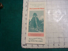 Vintage CLEAN brochure: THE LAND OF THE MAYA epirotiki lines 1970