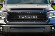 Custom TUNDRA Grille 14-16 Tundra Aftermarket Steel Grill - Black w/ SS Underlay