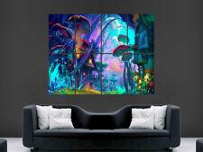 Casa De Hongo Psicodélico Trippy Cartel pared gigante de imágenes de fantasía Art Print