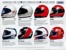Shoei Helme Prospekt ca. 1978 brochure helmets