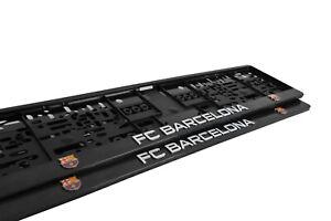 2x Echte 3D Kennzeichenhalter Fc Barcelona passt Für Bmw Audi Mercedes vw & Co !